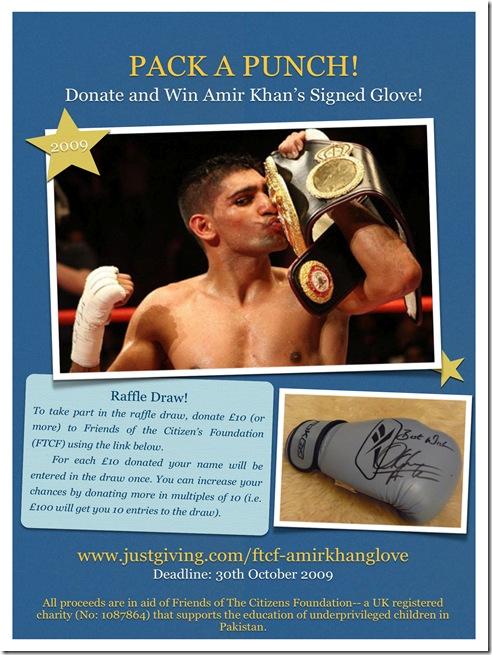 Amir Khan Glove Raffle